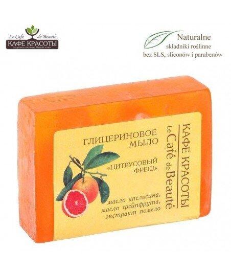 Mydło glicerynowe - ręcznie robione - Cytrusowa świeżość, 100g