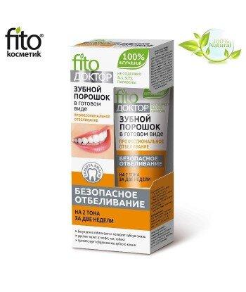 Proszek do zębów w gotowej formie PROFESJONALNE WYBIELANIE O 2 TONY WCIĄGU 2 TYGODNI - Fitokosmetik