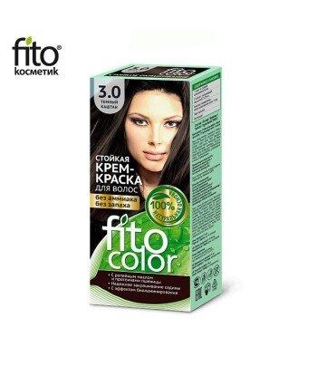 Farba do włosów 3,0 CIEMNY KASZTAN - FITO COLOR