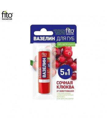 Naturalna wazelina do ust SOCZYSTA ŻURAWINA, 4,5g