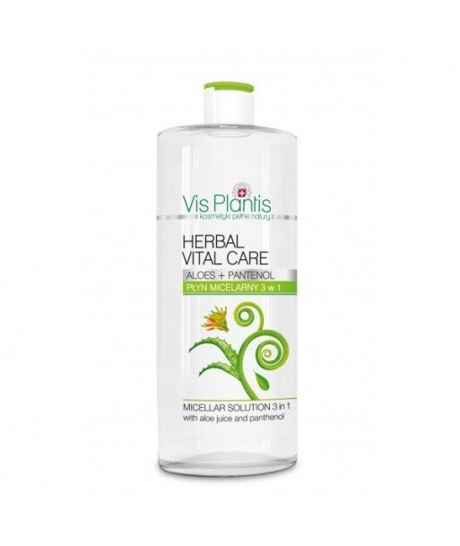 VIS PLANTIS - Płyn micelarny 3w1 z sokiem z aloesu i pantenolem 500 ml