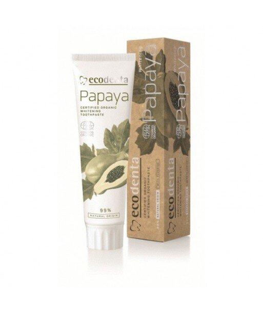 ECODENTA COSMOS ORGANIC PAPAYA Wybielająca pasta do zębów z ekstraktem papai, 100 ml