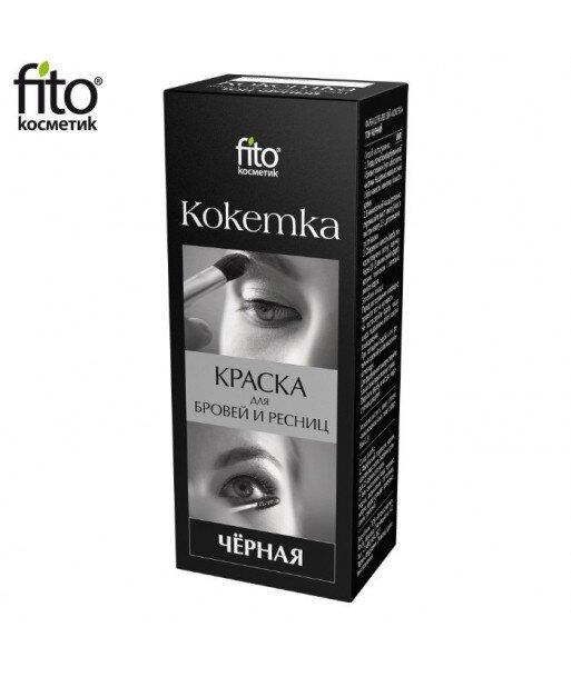 HENNA DO BRWI I RZĘS Kokietka - CZARNA, Fitocosmetic
