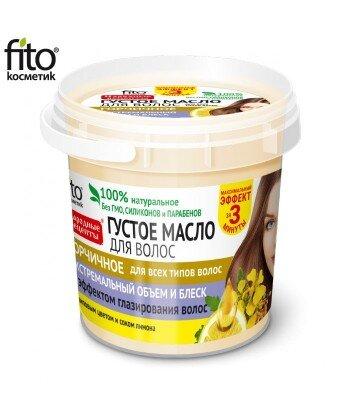Gęsty olejek do włosów musztardowy zapobiega łamliwości i rozdwajaniu się włosów, 155ml
