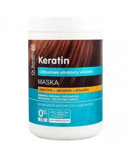 Dr. Santé Maska z keratyną, argininą, kolagenem do włosów matowych i łamliwych. 1000 ml