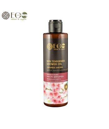 Olej do kąpieli pod prysznic - delikatna skóra - japońska sakura, olej z pestek brzoskwini, roślinny kompleks nawilżający - 250m