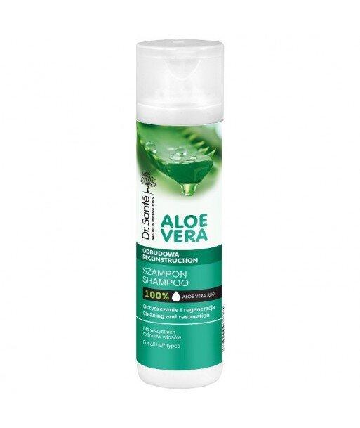 Dr. Santé Aloe Vera szampon aloesowy z keratyną, ceramidami roślinnymi do wszystkich rodzajów włosów 250ml