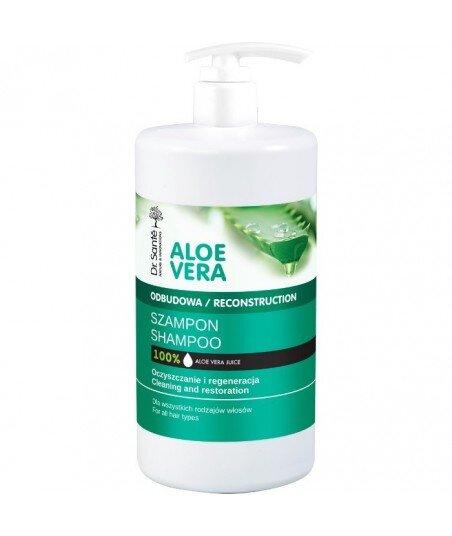 Dr. Santé Aloe Vera szampon aloesowy z keratyną, ceramidami roślinnymi do wszystkich rodzajów włosów 1000ml