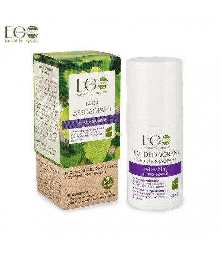 BIO-dezodorant - odświeżający - organiczny ekstrakt miłorzębu japońskiego, ekstrakt bambusa, 50g