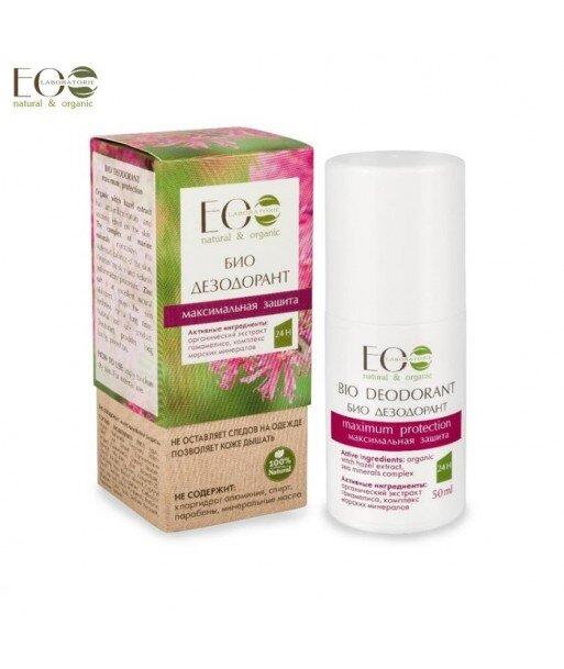 BIO-dezodorant - maksymalna ochrona - kompleks morskich minerałów, cynk, organiczny ekstrakt z oczaru wirginijskiego, 50g