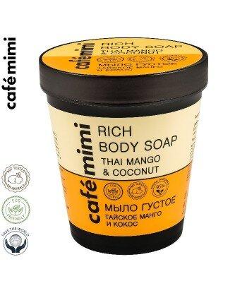 CAFE MIMI Mydło do ciała Tajskie mango i kokos, 220 ml
