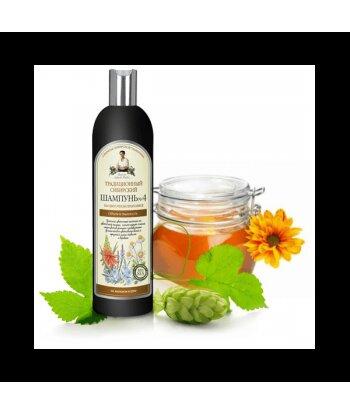 Syberyjski szampon na kwiatowym propolisie - Objętość i pusztystość