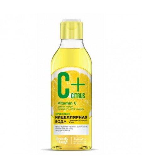 C+ Citrus Woda micelarna dla promienności skóry, z kompleksem przeciw starzeniu Anti Age, 245 ml
