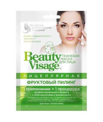 Micelarna maska do twarzy w płachcie - Owocowy Peeling Beauty Visage