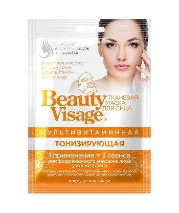 Multiwitaminowa maska do twarzy w płachcie - Tonizująca Beauty Visage