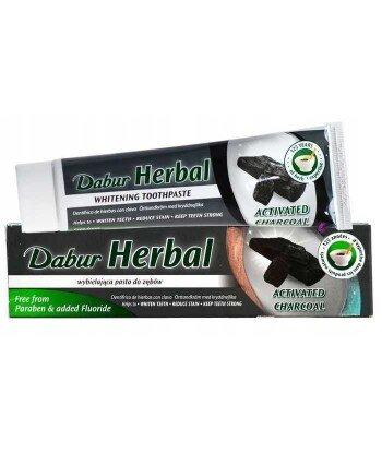 Dabur Czarna wybielająca pasta do zębów z aktywnym węglem, 100ml