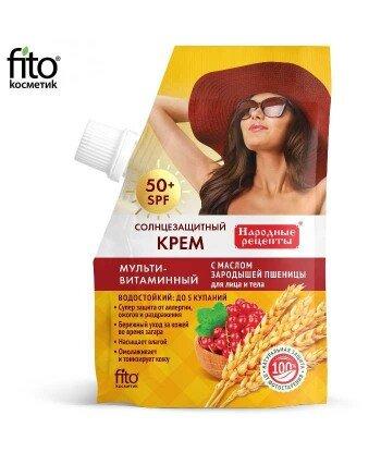 Krem do opalania do twarzy i ciała Multiwitaminowy 50 SPF, 50ml- Fitokosmetik