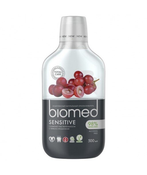 BIOMED Płyn do płukania jamy ustnej SENSITIVE 500ml - SPLAT