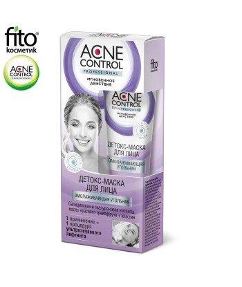 Acne Control Detoks - czarna maska do twarzy Odmładzająca węglowa, 45ml - Fitokosmetik
