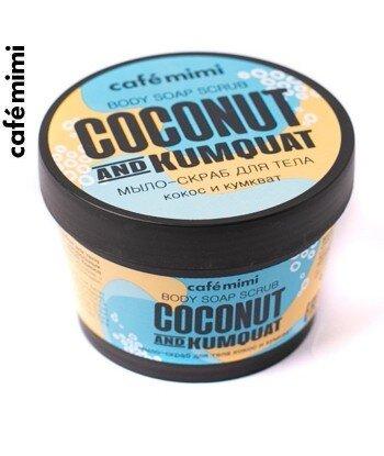 CAFE MIMI Mydło-scrub do ciała Kokos i Kumqat, 110 ml