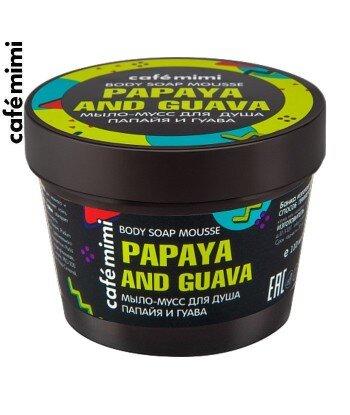 CAFE MIMI Mydło-mus pod prysznic Papaja i Guawa, 110 ml