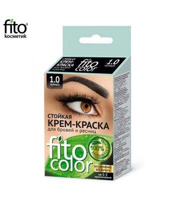 FITOCOLOR Farba do brwi i rzęs, kolor czarny, 2x2ml - Fitokosmetik