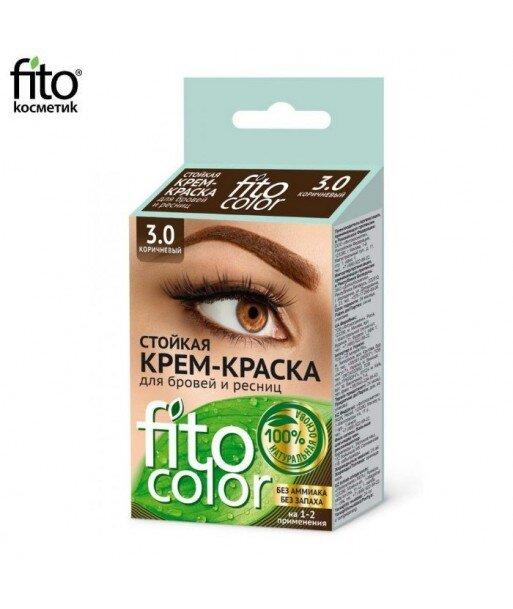 FITOCOLOR Farba do brwi i rzęs, kolor brązowy, 2x2ml - Fitokosmetik