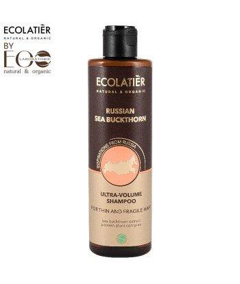 Szampon do włosów Ultra objętość do włosów cienkich RUSSIAN SEA BUCKTHORN, 250 ml, ECOLATIER