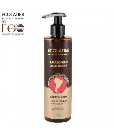 Keratynowy balsam do włosów Regeneracja i wzrost AMAZONIAN ACAI BERRY, 250 ml, ECOLATIER