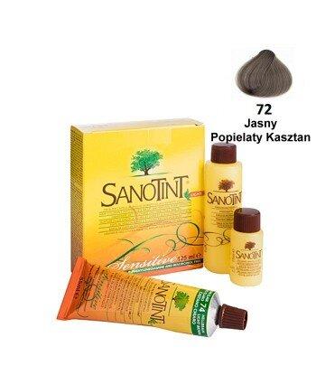 Farba do włosów Bright AH Chestn Jasny Popielaty Kasztan 72 Sensitive Sanotint
