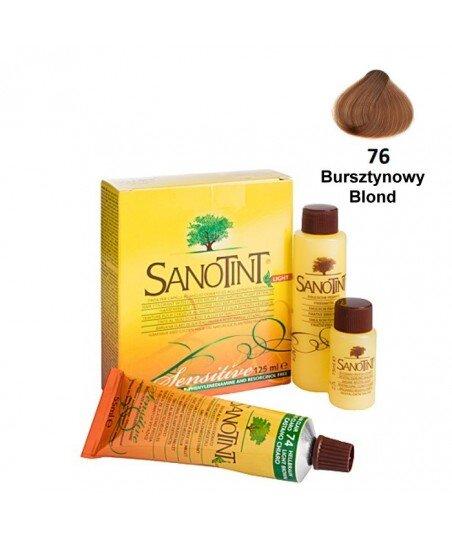 Farba do włosów Amber Blonde Bursztynowy Blond 76 Sensitive Sanotint