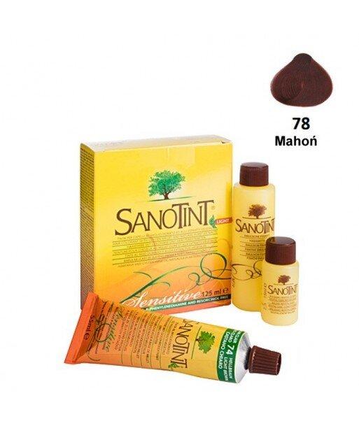 Farba do włosów Mahogany Mahoń 78 Sensitive Sanotint