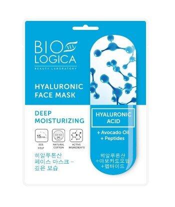 """BIOLOGICA HYALURONIC Maska do twarzy w płachcie """"Głębokie nawilżenie"""" z kwasem hialuronowym"""