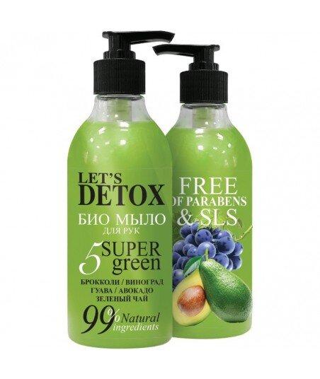 BODY BOOM Naturalny bio mydło do rąk nawilżające 5 SUPER GREEN, 380ml