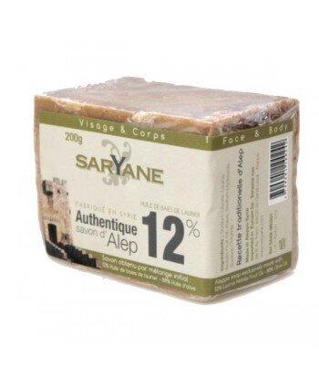 Mydło z Aleppo 12% oleju laurowego, 200g - Saryane