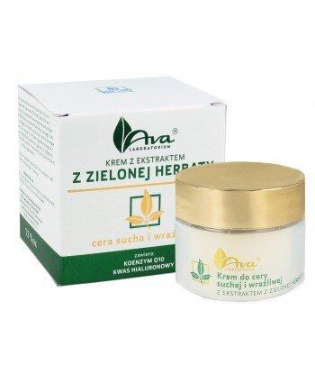 Krem z ekstraktem z zielonej herbaty do cery suchej i wrażliwej 50ml - AVA