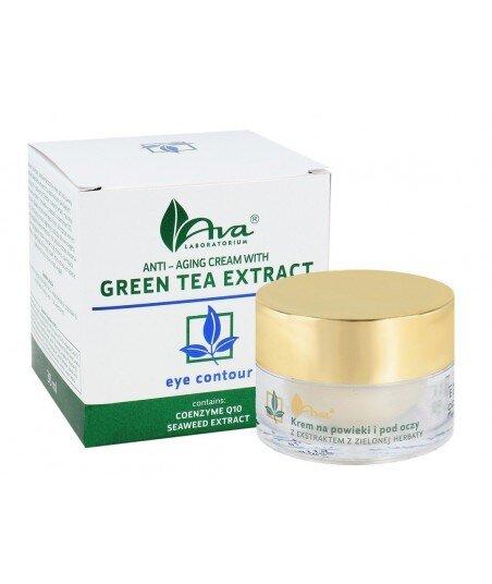Przeciwzmarszczkowy krem na powieki i pod oczy z ekstraktem z zielonej herbaty 30ml - AVA