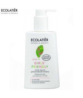 Krem - mydło do higieny intymnej Girls' Friendly Ph 5,2, dla dzieci, 250 ml - ECOLATIER