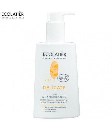 Żel do higieny intymnej Delicate, pH 4,7 - Probiotyk, kwas mlekowy, sok z aloesu - działanie przeciwzapalnei, 250 ml - ECOLATIE