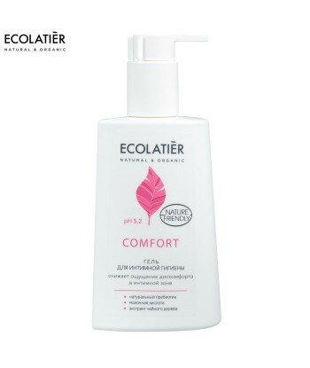 Żel do higieny intymnej Comfort, Ph 5,2 - Probiotyk, kwas mlekowy, sok z aolesu, 250 ml - ECOLATIER