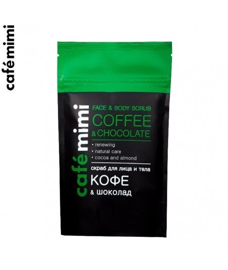 Peeling do twarzy i ciała - Kawa i Czekolada, 150 g - CAFE MIMI