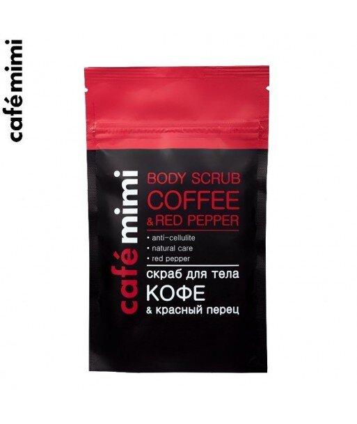 Kawowy scrub do ciała - Kawa i Czerwony pieprz, 150 g - CAFE MIMI
