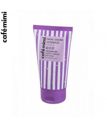Chłodzący peeling do problematycznej skóry twarzy - Mięta pieprzowa i pantenol, 150 ml - CAFE MIMI
