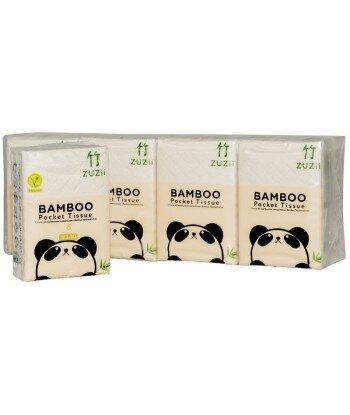 Zestaw bambusowych chusteczek higienicznych 4-warstwowych kieszonkowych 8 szt.