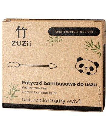 Patyczki higieniczne bambusowe z bawełną (bałwanek-szpic) 100 szt.