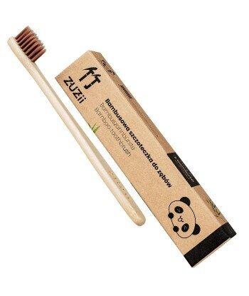 Bambusowa szczoteczka do zębów dla dzieci brązowa