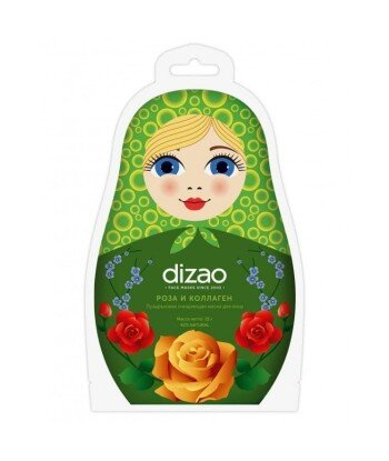 Musująca maska oczyszczająca z ekstraktem z róży i kolagenem w płachcie, 25 g - DIZAO Matrioszka