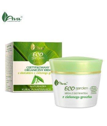 Certyfikowany organiczny krem z ekstraktem z zielonego groszku - Naturalna kuracja napiniająca 50+ - AVA ECO Garden