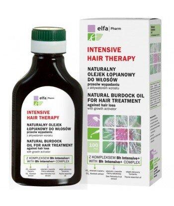 Elfa Pharm - Naturalny olejek łopianowy do włosów z kompleksem Bh Intensive + przeciw wypadaniu włosów z aktywatorem wzrostu