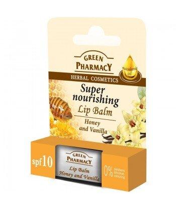 Balsam do ust, miód i wanilia, intensywnie odżywczy, SPF 10